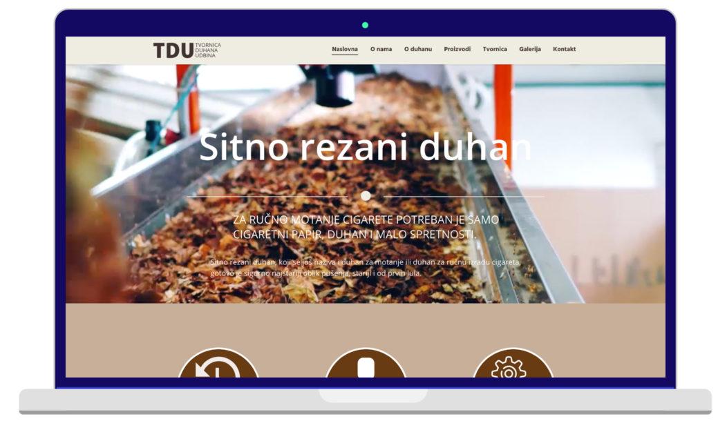 Izrada Web Stranica Tvornica Duhana Udbina