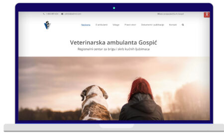 Izrada Web Stranica Veterinarska Ambulanta Gospić
